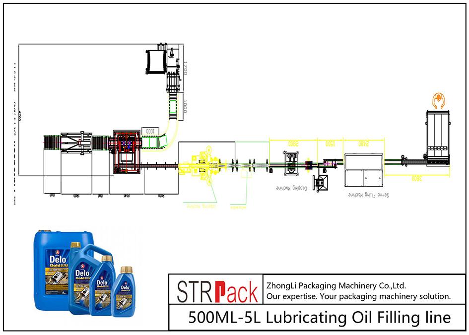Ավտոմատ 500ML-5L յուղիչի յուղի լրացման գիծ